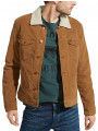 Wrangler Sherpa Fur Corduroy Trucker Jacket Bison Washed
