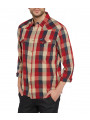 Wrangler Western Long Sleeve Check Shirt Red
