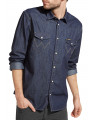 Wrangler Western Denim Shirt Long Sleeve Rinse Indigo
