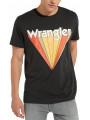 Wrangler Festival Crew Neck Graphic Logo T-shirt Faded Black