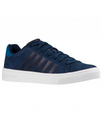 K-Swiss Men's Court Frasco Leather Shoes Trainers Dress Blues | Jean Scene