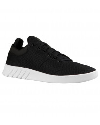 K-Swiss Men's Aero Lightweight Mesh Gym Shoes Trainers Black White | Jean Scene