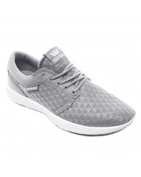 SUPRA Men's Hammer Run Canvas Shoes Trainers Light Grey-White | Jean Scene