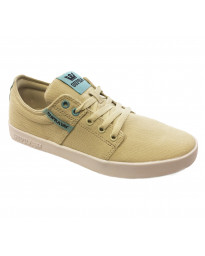 SUPRA Men's Stacks II Canvas Shoes Trainers Bone Stitch-White | Jean Scene