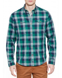 Timberland Stonybrook Slim Herringbo Check Shirt Long Sleeve Green Gables | Jean Scene