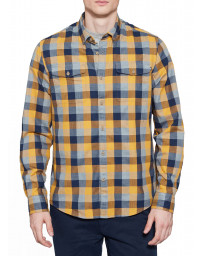 Timberland Stonybrook Slim Herringbo Check Shirt Long Sleeve Cyber Yellow | Jean Scene