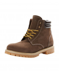 Jack & Jones Men's Nubuck Stoke Leather Boots Java | Jean Scene