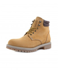 Jack & Jones Mens Nubuck Stoke Leather Boots Honey | Jean Scene