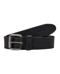 Jack & Jones Jakob Leather Belt Black | Jean Scene