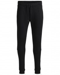 Jack & Jones Men's Core Slub Sweat Jogging Joggers Black Pants | Jean Scene