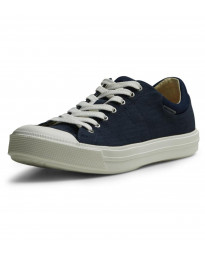 Jack & Jones Men's Mervin Low Canvas Shoes Navy Blazer | Jean Scene