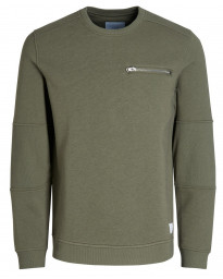 Jack & Jones Core Men's Pete Logo Sweatshirt Deep Green | Jean Scene