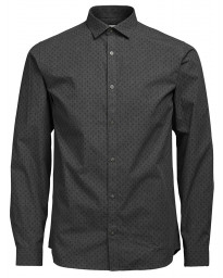 Jack & Jones Premium Jesper Shirt Long Sleeve Grey Melange | Jean Scene