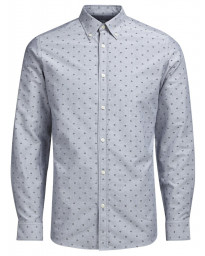 Jack & Jones Premium Panama Shirt Long Sleeve Light Grey | Jean Scene