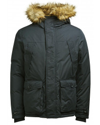 Jack & Jones Parka Padded Jacket Asphalt | Jean Scene