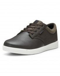 Jack & Jones Men's Gaston Low PU Leather Shoes Shoes Java Brown | Jean Scene