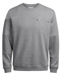 Jack & Jones Crew Neck Men's Pete Sweatshirt Light Grey | Jean Scene