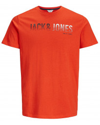 Jack & Jones Core Crew Neck Linn Logo Print T-shirt Poinciana | Jean Scene