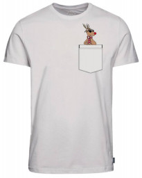 Jack & Jones Crew Neck Chimney Pocket Christmas Print T-shirt Cloud Dancer | Jean Scene