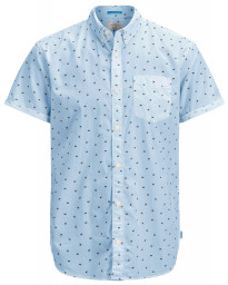 Jack & Jones Originals Regular Cambridge Short Sleeve Shirt Cashmere Blue | Jean Scene