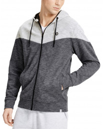Jack & Jones Zip Up Men's Chevron Hoodie Black | Jean Scene