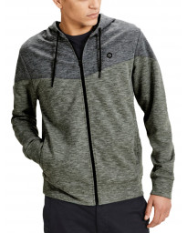 Jack & Jones Zip Up Men's Chevron Hoodie Thyme | Jean Scene