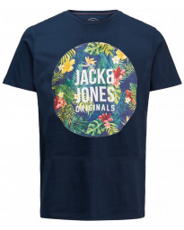 Jack & Jones Original Crew Neck Rain Print T-shirt Total Eclipse | Jean Scene