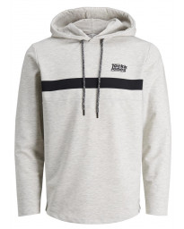Jack & Jones Overhead Men's Loop Hoodie White Melange | Jean Scene