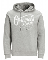 Jack & Jones Overhead Men's Neo Hoodie Light Grey | Jean Scene