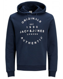 Jack & Jones Overhead Men's Neo Hoodie Total Eclipse | Jean Scene