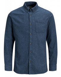 Jack & Jones Originals Regular Chris Long Sleeve Shirt Total Eclipse | Jean Scene