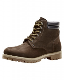 Jack & Jones Mens High Warm Nubuck Stoke Boots Java Shoes | Jean Scene