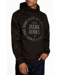 Jack & Jones Overhead Men's Marko Hoodie Black | Jean Scene