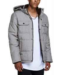 Jack & Jones Men's Core Will Padded Jacket Light Grey Mel | Jean Scene