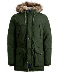 Jack & Jones Men's Original Explore Parka Jacket Forest Night | Jean Scene