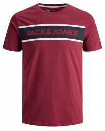 Jack & Jones Logo Men's T-Shirts Rhododendron | Jean Scene