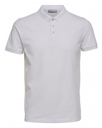 Selected Damon Polo Shirt White | Jean Scene
