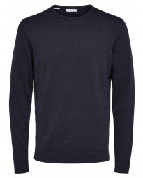 Selected Crew Neck Cotton Tower Jumper Dark Sapphire | Jean Scene