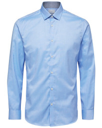 Selected Slim Mark Long Sleeve Shirt Light Blue | Jean Scene