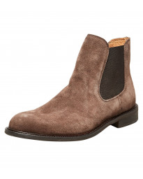 Selected Mens Baxter Suede Leather Chelsea Boots Boots Cocoa Brown | Jean Scene