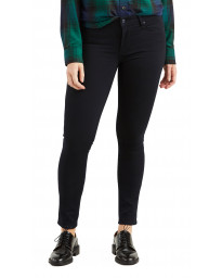 Levis 711 Women's Skinny Stretch Jeans Black Sheep | Jean Scene