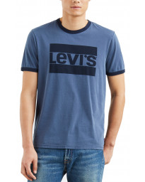 Levis Ringer Sportswear Men's T-Shirt Dress Blues | Jean Scene