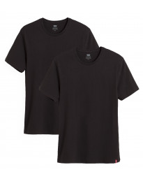 Levis Slim 2 Pack Crew Neck Men's T-Shirt Black/Black | Jean Scene