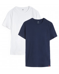 Levis Slim 2 Pack Crew Neck Men's T-Shirt Dress Blues/ White | Jean Scene