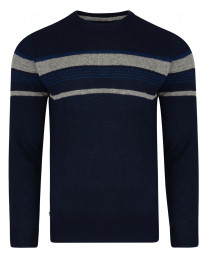 Old Boys Network Men's Lambswool Barton Knit Jumper Navy | Jean Scene