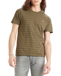 Levis Original HM Patch Short Sleeve Men's T-Shirt Olive | Jean Scene