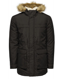 Only & Sons Parka Padded Jacket Black | Jean Scene