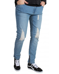 Only & Sons Warp Skinny Fit Denim Jeans 7919 Mid Blue | Jean Scene