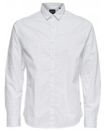Only & Sons Originals Slim Tesla Long Sleeve Shirt White | Jean Scene