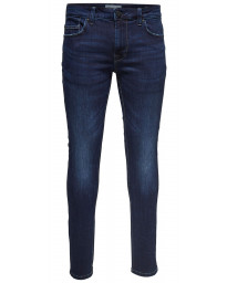 Only & Sons Warp Skinny Fit Denim Jeans Medium Blue | Jean Scene